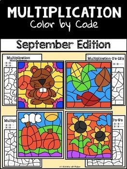 Color by Code Growing Bundle—Multiplication