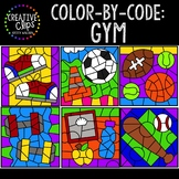 Color by Code: Gym Clipart {Creative Clips Clipart}