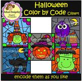 Color by Code - Halloween - Clip Art (School Designhcf)