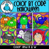 Color by Code Halloween Clip Art Set - Chirp Graphics