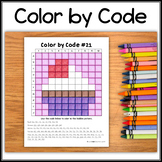 Color by Code – Hidden Picture #C21 – Cupcake
