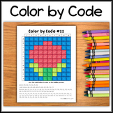 Color by Code – Hidden Picture #C22 – Rose