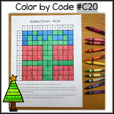 Color by Code - Hidden Picture – Christmas Present