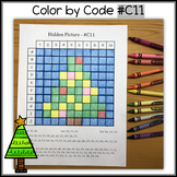 Color by Code - Hidden Picture – Christmas Tree