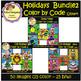 Color by Code - Holidays - Bundle Set2 - Clip Art (School Designhcf)