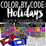 Color by Number or Code: Holidays Bundle {Creative Clips Clipart}