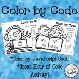 Color by Code! {Hour of Code JavaScript Coloring Activity}