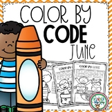 Color by Code Kindergarten | Summer Coloring Pages