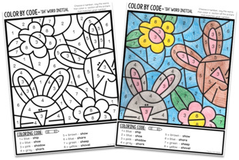 Color by Code- Later sounds- sh, ch, j, th, 'zh', l, r (includes vocalic r)