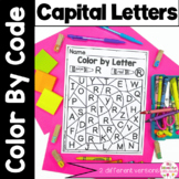 Color by Code Letter Recognition Capital Uppercase Activty