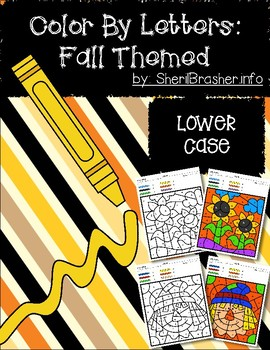 Color by Code: Letter Recognition | Lowercase | Fall Themed