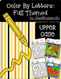 Color by Code: Letter Recognition | Uppercase | Fall Themed