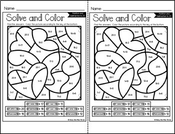Color by Code Martin Luther King Math Activities {Addition & Subtraction to 20}