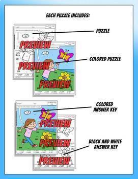 Color by Code: Math – APRIL – 4th Grade - Common Core Aligned