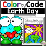 Color by Code Math Activities for Earth Day Grades 1-2