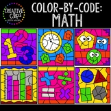 Color by Code: Math Clipart {Creative Clips Clipart}