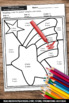 Color by Code Math Counting to 100 Tens and Ones Place Value Worksheets, SPS