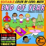 Color by Code : Math – END OF YEAR – 2nd Grade - Common Co