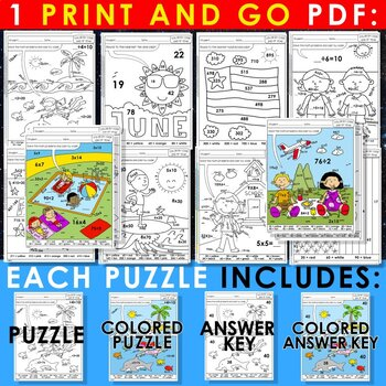 Color by Code: Math – END OF YEAR – 3rd Grade –EDITABLE– Common Core Aligned