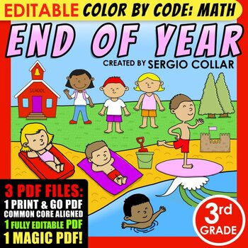 Color by Code : Math – END OF YEAR – 3rd Grade - Common Co