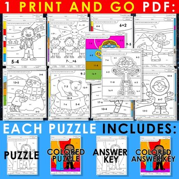 Color by Code: Math – JANUARY – 4th Grade - Common Core Aligned