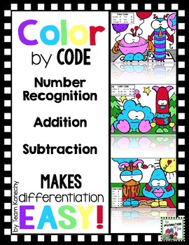 Color by Code - Monsters