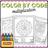 Color by Code Multiplication Practice - Growing BUNDLE