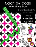 Color by Code: Number & Letter Recognition | PreK | Valentine's Day Themed