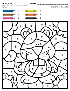 Color by Code: Number Recognition | 1-10 | Fall Themed