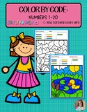 Color by Code: Number Recognition | 1-20 | Spring Pond Themed