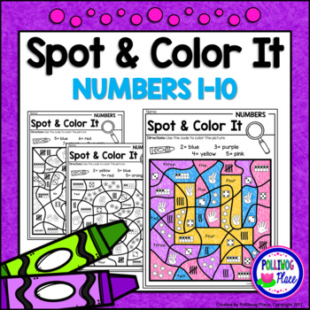 Color by Code Number Sense - Color by Numbers for 1-10