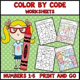 Color by Code Numbers 1-5