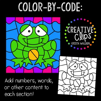 Color by Code: Pond Life Clipart {Creative Clips Clipart}