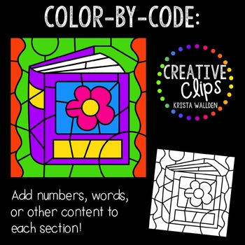 Color by Code: Reading Clipart {Creative Clips Clipart}