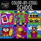 Color by Number or Code: SCHOOL Growing Bundle {Creative Clips Clipart}