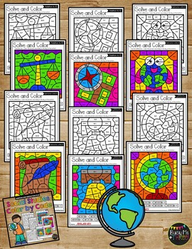 Color by Code SOCIAL STUDIES Color by Number {Addition & Subtraction to 10}