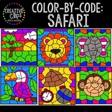 Color by Code: Safari Clipart {Creative Clips Clipart}