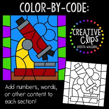 Color by Code: Science Clipart {Creative Clips Clipart}