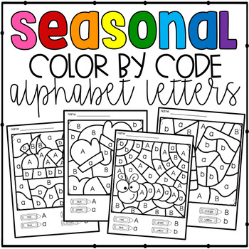 Color by Code Seasonal Alphabet Letters