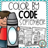 Color by Code Kindergarten | Fall Coloring Pages