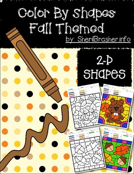 Color by Code: Shape Recognition | Basic 2-D | Fall Themed