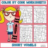 Color by Code Short Vowels CVC Words