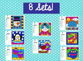 Color by Code Sight Word Winter Word Work Activities Print and Go!
