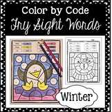 Winter Color by Code: Sight Words
