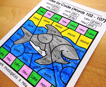 Color by Code Sight Words Bundle - Three Themes - Food/Pirate/Ocean {128 Words