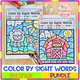 Color by Code - Sight Words Third Grade Bundle