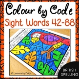 Colour by Code Sight Words {Words 42 to 88} British Spelling