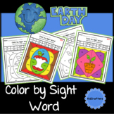 Color by Code Sight Words Worksheets Distance Learning
