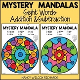 Color by Code Sight Words and Math Facts | Mandala Coloring Pages