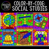 Color by Code: Social Studies Clipart {Creative Clips Clipart}